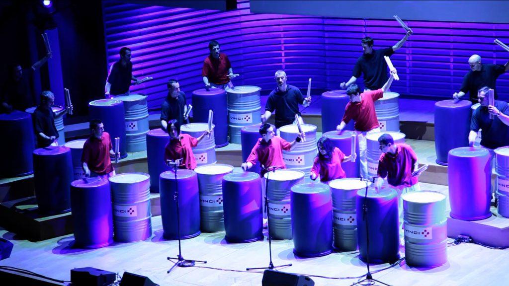événement vinci 15 percussionnistes draconis